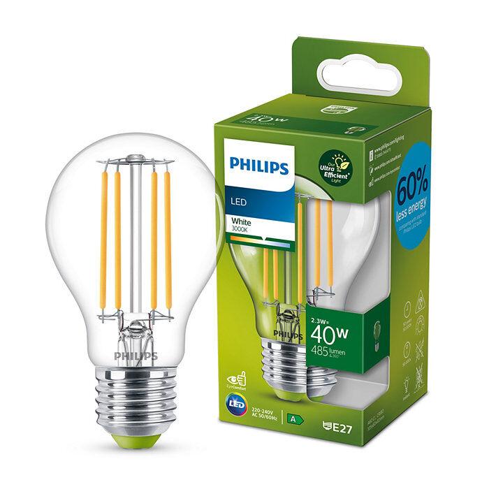 Philips Classic E27 A-energiaosztály, 40W, 3000K melegfehér LED fényforrás