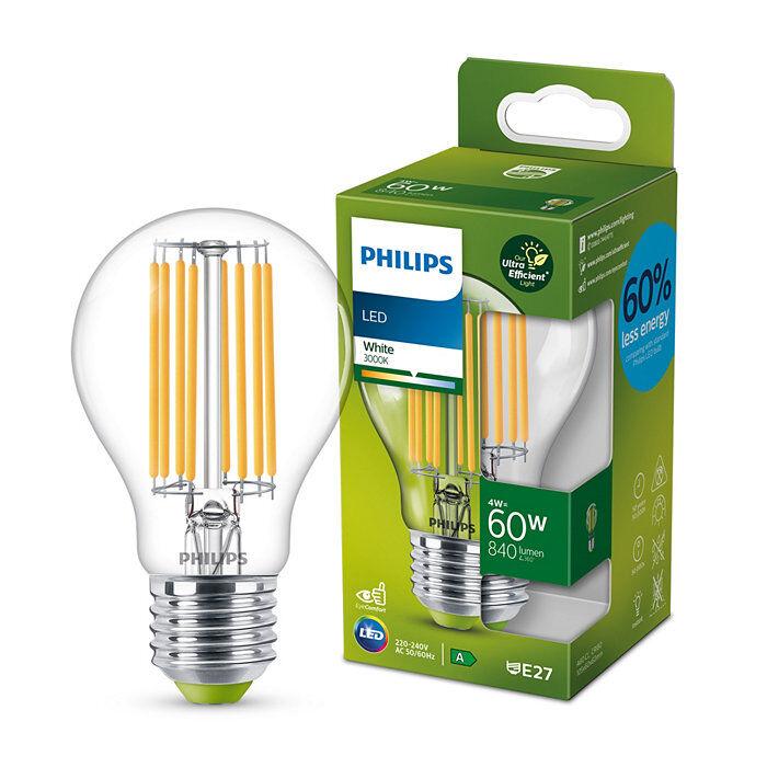 Philips Classic E27 A-energiaosztály, 60W, 3000K melegfehér LED fényforrás