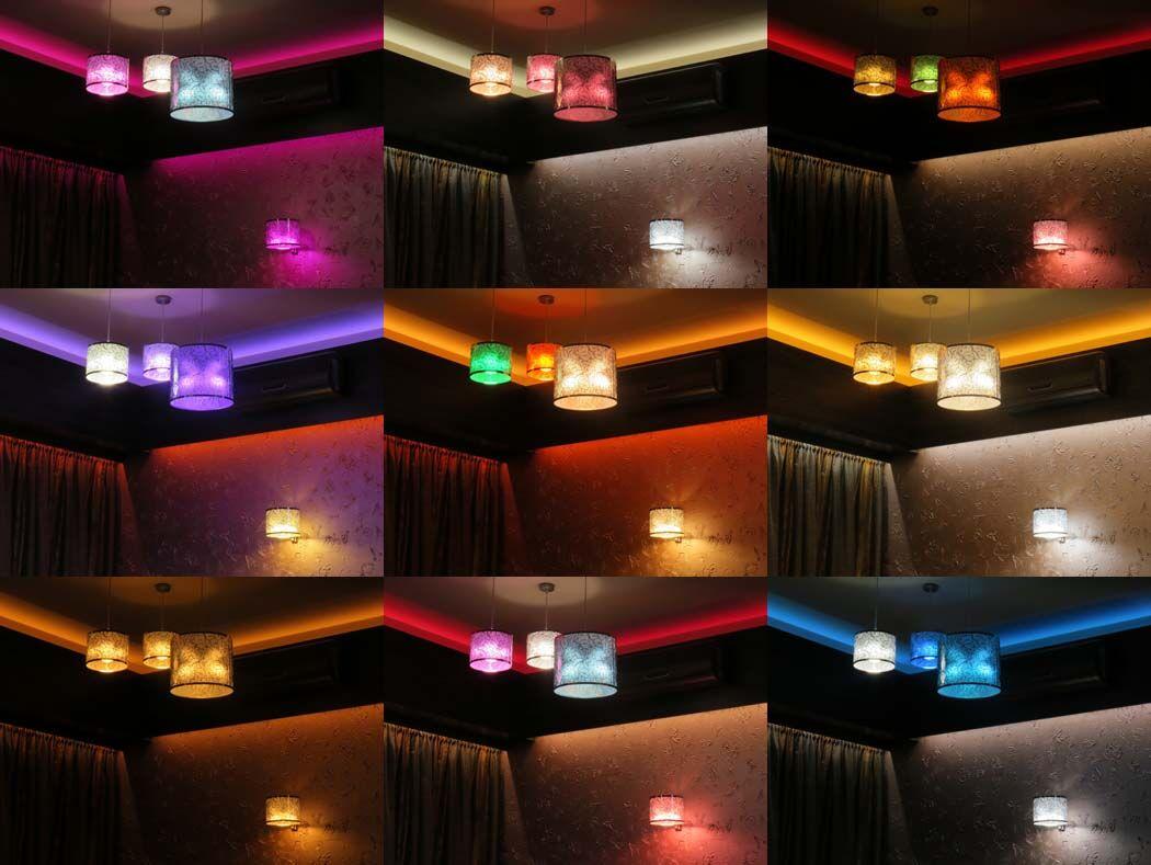 Philips Hue LED színbeállítások étterem világításához