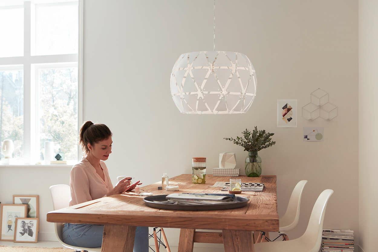 Philips Sandalwood 60 cm lámpa E27 függeszték 4091731PN
