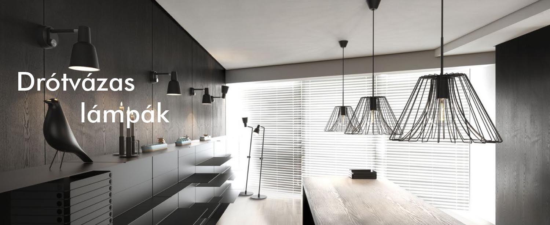 Drótvázas, drót hatású vintage lámpák - Eglo, Nordlux