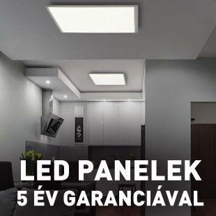 Eglo LED panel 5 év garancia Fueva 1, Salobrena 1 - 3W, 6W, 12W, 18W, 22W, kör, négyzet