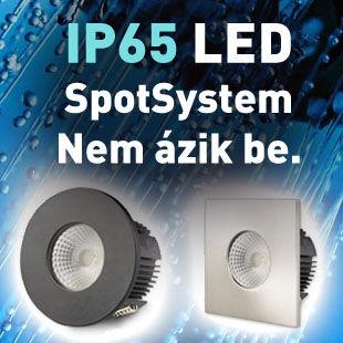 IP65 LED vízálló lámpa kültéri, fürdőszobai használatra