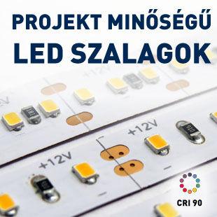 LED szalagok projekt minőségben. Kimagasló fényerő és színvisszaadás. 5W, 10W, 20W/méter