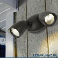 Lutec LED Shrimp 1 kültéri fali  biztonsági lámpa, 22W, 1380 lm, 4000K természetes fehér, IP54 - 7621902012 - 6219A bl