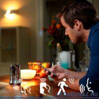 Philips Hue E27 White LED kezdőcsomag, 2700K + Bridge + DimSwitch - 8718696728987
