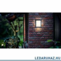 Philips Karp kültéri falra szerelhető LED lámpa, antracitszürke, 1 x 6W, 600 lm, 2700K melegfehér, 172939316