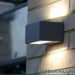 Lutec LED Gemini kültéri fali lámpa, 9W, 480 lm, 4000K természetes fehér, IP54 - 5189102118 - 1891S gr