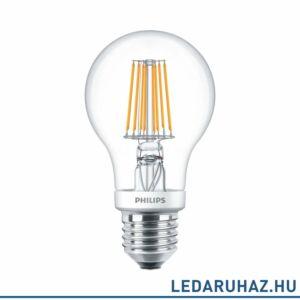 Philips FILAMENT 7,5 W E27 LED fényforrás, 806 lm, 2700K-2200K DimTone, fényerőszabályozható