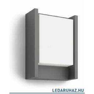 Philips Arbour antracit LED kültéri fali lámpa, 4000K, 1x6W, 1646093P3