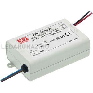 Áramgenerátoros LED tápegység Mean Well APC-35-1050 35W/11-33V/1050mA