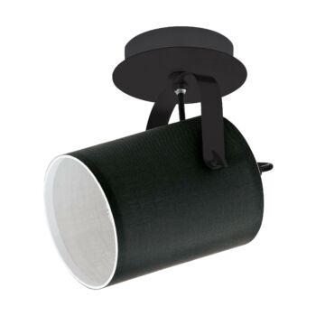EGLO 33645 VILLABATE fali/mennyezeti lámpa, fekete, E27 foglalattal, IP20