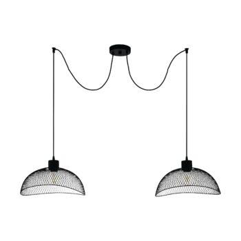 EGLO 43306 POMPEYA több ágú függeszték, fekete, E27 foglalattal, IP20 + ajándék LED fényforrás