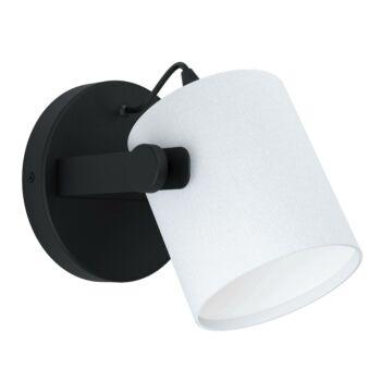 EGLO 43427 HORNWOOD 1 fali lámpa, fekete, E27 foglalattal, IP20