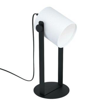 EGLO 43428 HORNWOOD 1 asztali lámpa, kapcsolóval, fekete, E27 foglalattal, IP20
