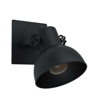 EGLO 43431 BARNSTAPLE 1 fali lámpa, fekete, E27 foglalattal, IP20