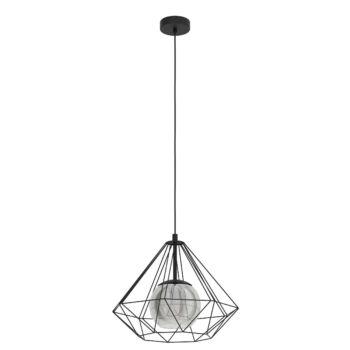 EGLO 43481 VERNHAM 1 ágú függeszték, fekete, E27 foglalattal, IP20 + ajándék LED fényforrás