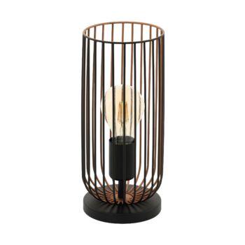 EGLO 49646 ROCCAMENA asztali lámpa, kapcsolóval, fekete, E27 foglalattal, IP20
