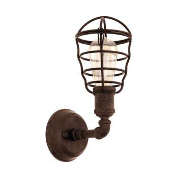 EGLO 49811 PORT SETON fali lámpa, barna, E27 foglalattal, IP20 + ajándék LED fényforrás