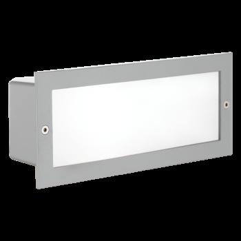 EGLO 88008 ZIMBA kültéri oldalfalba építhető lámpa, ezüst, E27 foglalattal, IP44