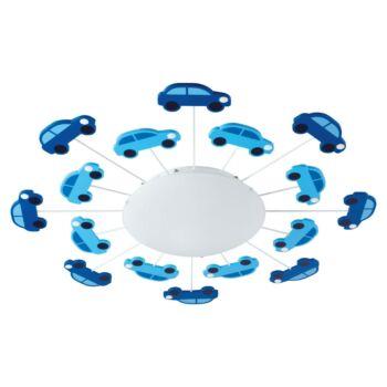 EGLO 92146 VIKI 1 fali/mennyezeti lámpa, kék, E27 foglalattal, IP20 + ajándék LED fényforrás