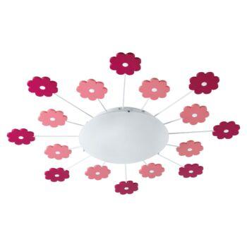 EGLO 92147 VIKI 1 fali/mennyezeti lámpa, rózsaszín, E27 foglalattal, IP20 + ajándék LED fényforrás