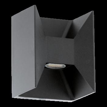 EGLO 93319 MORINO kültéri fali lámpa, antracit, 2X2,5W, 360 lm, 3000K melegfehér, beépített LED, IP44
