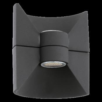 EGLO 93368 REDONDO kültéri fali lámpa, antracit, 2X2,5W, 360 lm, 3000K melegfehér, beépített LED, IP44