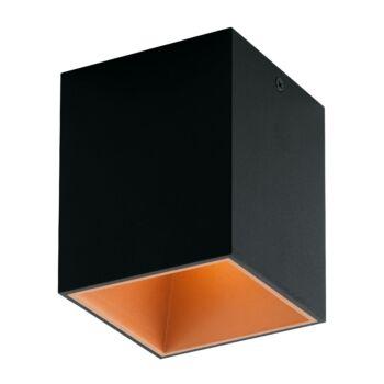 EGLO 94496 POLASSO mennyezeti lámpa, fekete, 1X3,3W, 340 lm, 3000K melegfehér, beépített LED, IP20