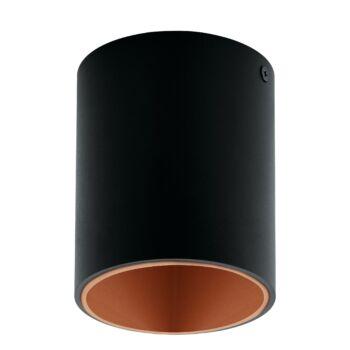 EGLO 94501 POLASSO mennyezeti lámpa, fekete, 1X3,3W, 340 lm, 3000K melegfehér, beépített LED, IP20