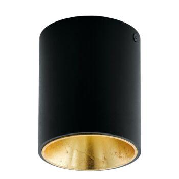 EGLO 94502 POLASSO mennyezeti lámpa, fekete, 1X3,3W, 340 lm, 3000K melegfehér, beépített LED, IP20