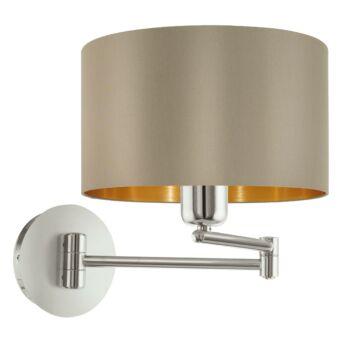 EGLO 95055 MASERLO fali lámpa, kapcsolóval, szürke, E27 foglalattal, IP20 + ajándék LED fényforrás