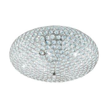 EGLO 95285 CLEMENTE mennyezeti lámpa, króm, E27 foglalattal, IP20 + ajándék LED fényforrás