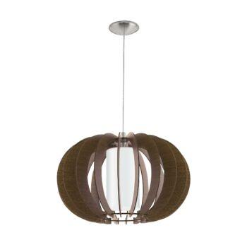 EGLO 95592 STELLATO 3 1 ágú függeszték, barna, E27 foglalattal, IP20 + ajándék LED fényforrás
