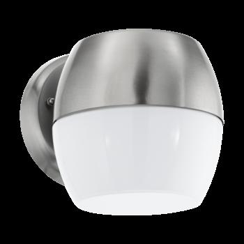 EGLO 95982 ONCALA kültéri fali lámpa, rozsdamentes acél (inox), 11W, 950 lm, 3000K melegfehér, beépített LED, IP44