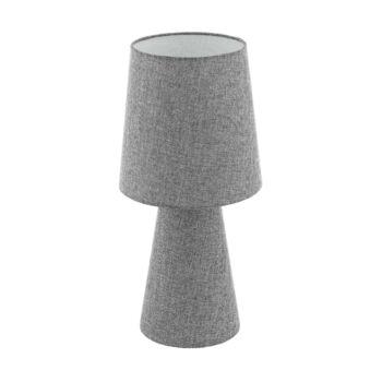EGLO 97132 CARPARA asztali lámpa, kapcsolóval, szürke, E27 foglalattal, IP20