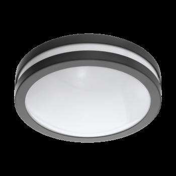 EGLO 97237 LOCANA-C kültéri fali lámpa, fekete, 14W, 1400 lm, 3000K melegfehér, beépített LED, IP44