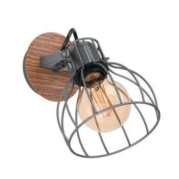 EGLO 98134 SAMBATELLO fali lámpa, barna, E27 foglalattal, IP20