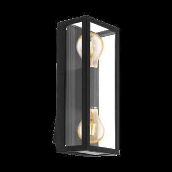EGLO 98273 ALAMONTE 1 kültéri fali lámpa, fekete, E27 foglalattal, IP44