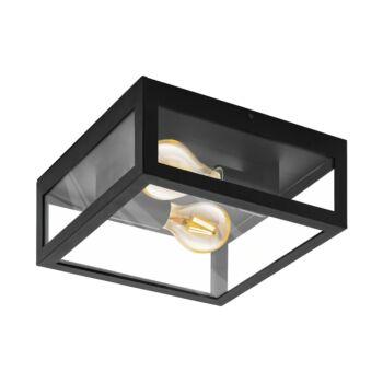EGLO 99122 AMEZOLA fürdőszobai mennyezeti lámpa, fekete, E27 foglalattal, IP44