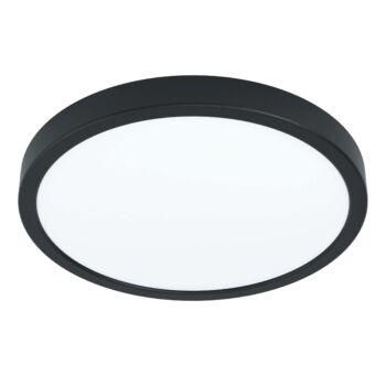 EGLO 99264 FUEVA 5 falra szerelhető LED panel, fekete, 20W, 2300 lm, 3000K melegfehér, fényerő szabályozható, beépített LED, IP20, 285mm átmérő