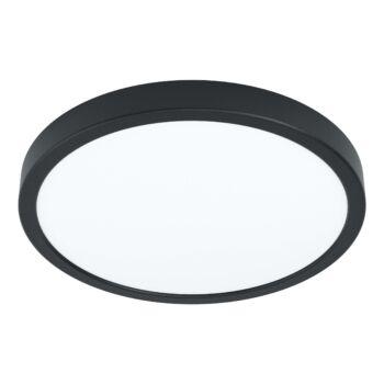 EGLO 99267 FUEVA 5 falra szerelhető fürdőszobai LED panel, fekete, 20W, 2300 lm, 3000K melegfehér, beépített LED, IP44, 285mm átmérő