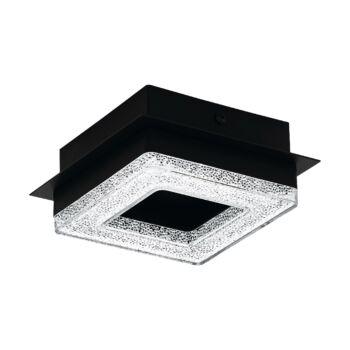 EGLO 99324 FRADELO 1 fali/mennyezeti lámpa, csillogó hatás, fekete, 1X4W, 400 lm, 3000K melegfehér, beépített LED, IP20