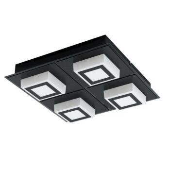 EGLO 99364 MASIANO 1 mennyezeti lámpa, fekete, 4X3,3W, 1360 lm, 3000K melegfehér, beépített LED, IP20