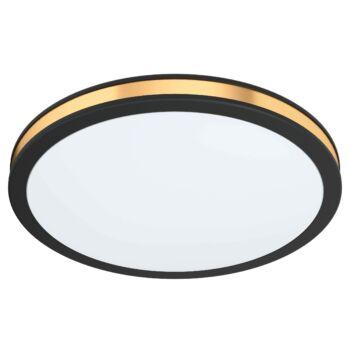 EGLO 99406 PESCAITO mennyezeti lámpa, fekete, 11W, 1350 lm, 3000K melegfehér, beépített LED, IP20