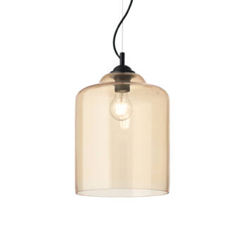 IDEAL LUX BISTRO' függesztett lámpa E27 foglalattal, max. 60W, 24 cm átmérő, borostyán üveg 163789