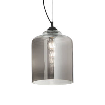 IDEAL LUX BISTRO' függesztett lámpa E27 foglalattal, max. 60W, 24 cm átmérő, füst üveg 112312