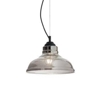 IDEAL LUX BISTRO' függesztett lámpa E27 foglalattal, max. 60W, 28 cm átmérő, füst üveg 112343