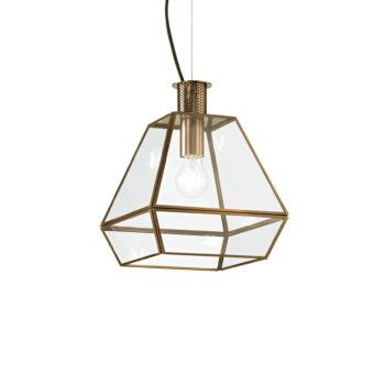 IDEAL LUX ORANGERIE függesztett lámpa E27 foglalattal, max. 60W, 25 cm átmérő, üveg 152776