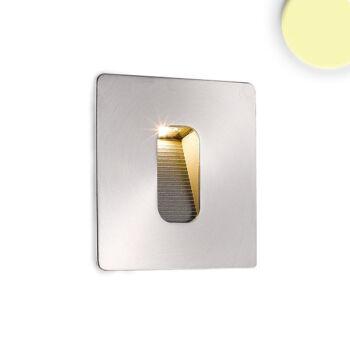 Beépíthető lépcsővilágító fali LED lámpa, négyzet, rozsdamentes acél – 3W CREE melegfehér LED, IP65